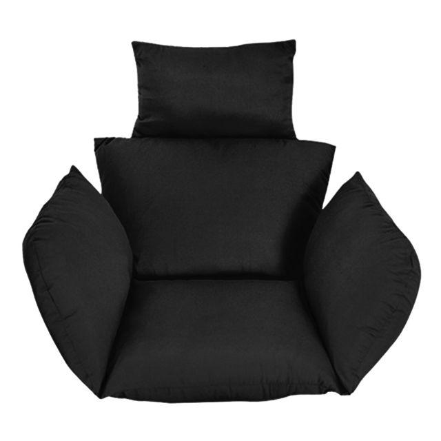 balancoire suspendue oeuf rotin chaise coussins jardin exterieur patio hamac