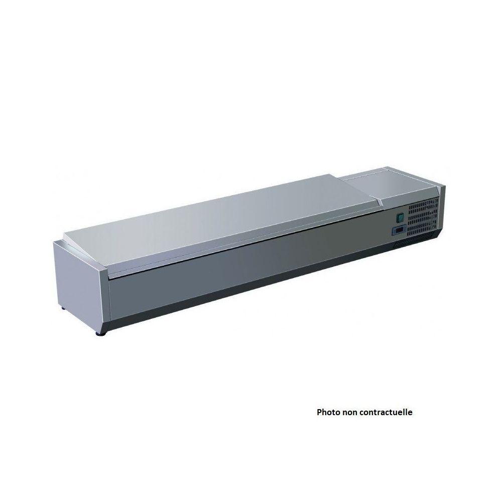 Materiel Chr Pro Saladette Réfrigérée Inox à Poser - 4 à 9 Bacs GN 1/3 - AFI Collin Lucy - 1800 mm