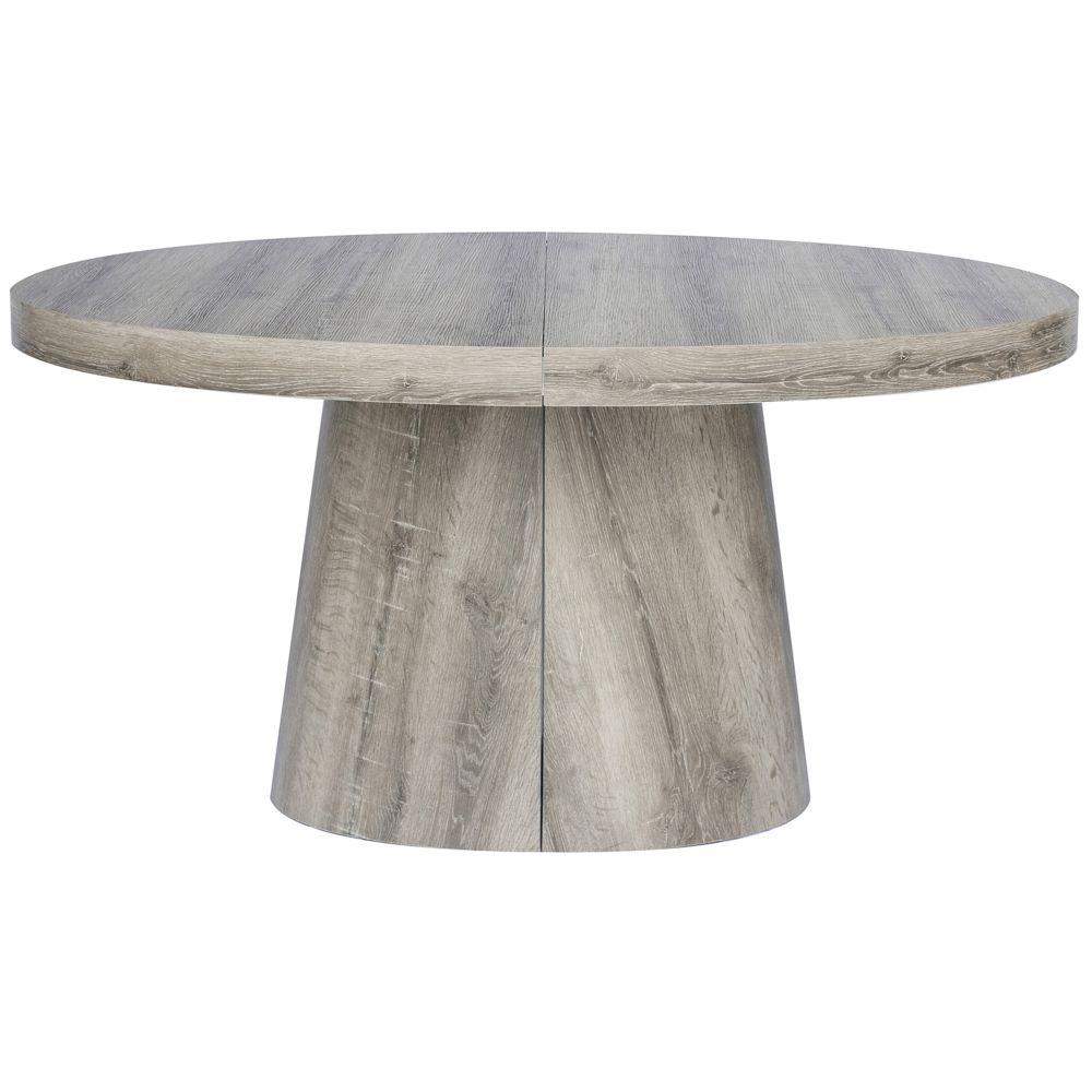 MENZZO Table ovale extensible Oluze Chêne Foncé