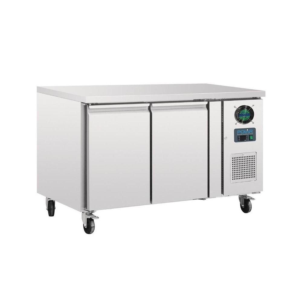 Polar Table réfrigérée négative inox - 2 portes 282 L - Polar - 700