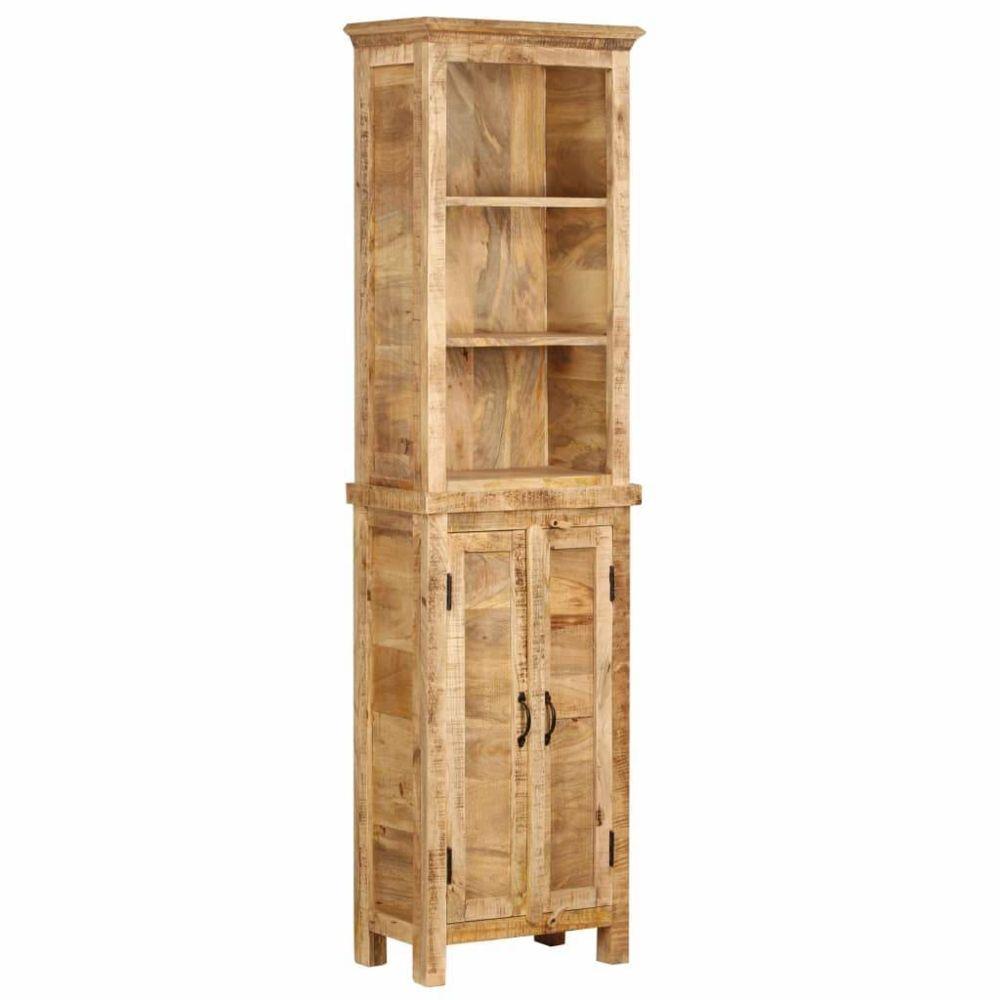 Helloshop26 Étagère armoire meuble design bibliothèque 180 cm bois massif de manguier 2702065/2