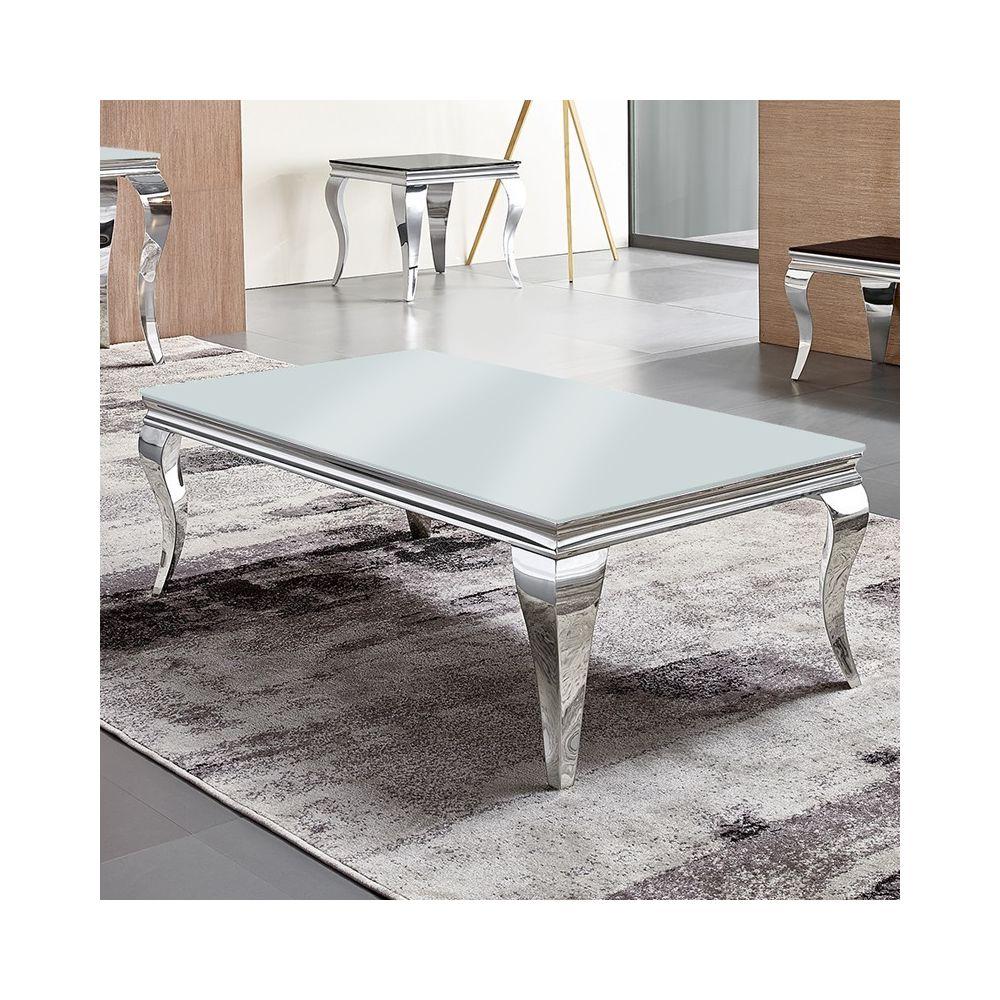 Meubler Design Table basse baroque EMA - Blanc