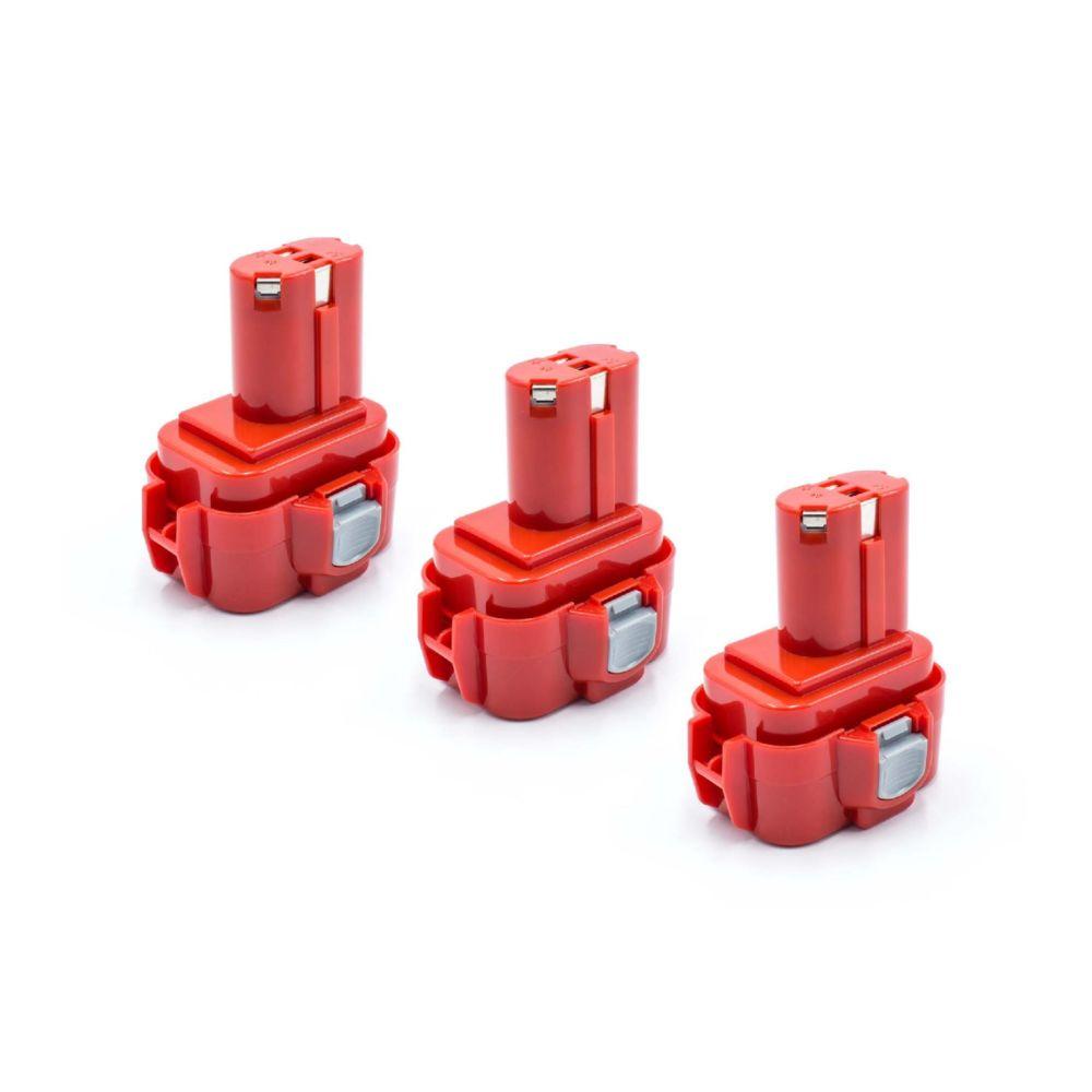 Vhbw vhbw 3x NiMH batterie 1500mAh (9.6V) pour outil électrique outil Powertools Tools comme Makita 9100A, 9101, 9101A, 9102,