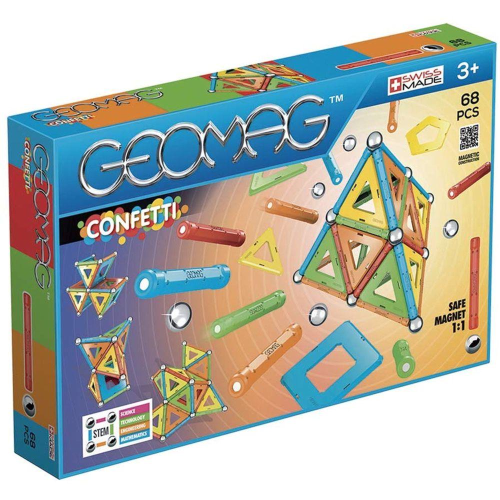 Geomag GEOMAG Blocs magnétiques Confetti 68 éléments GEO-355