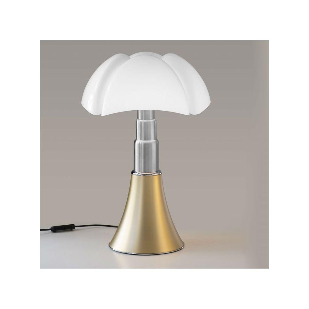 Martinelli Luce PIPISTRELLO MEDIUM-Lampe Dimmer LED pied télescopique H50-62cm Laiton Martinelli Luce - designé par Gae Aulenti