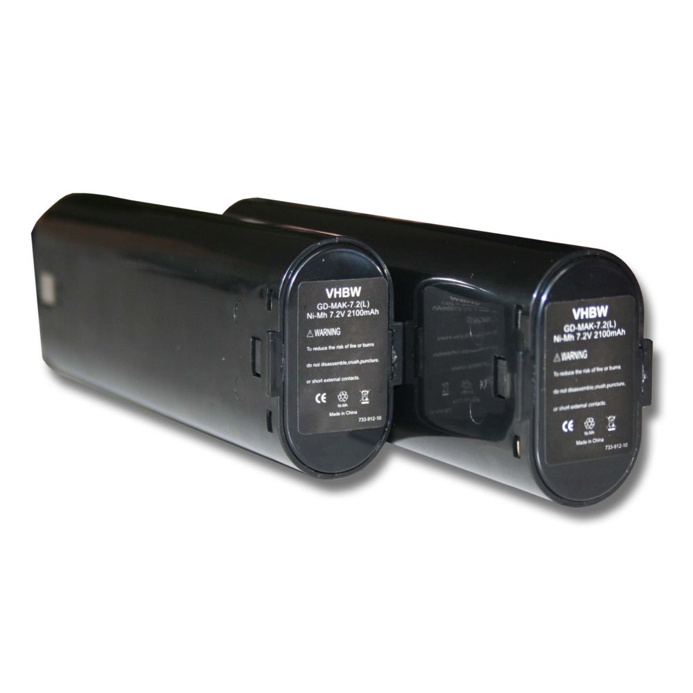 Vhbw vhbw 2x NiMH batterie 2100mAh (7.2V) pour outil électrique outil Powertools Tools Mikrofyn Mikrolaser ML-3, ML-4, MLP-12