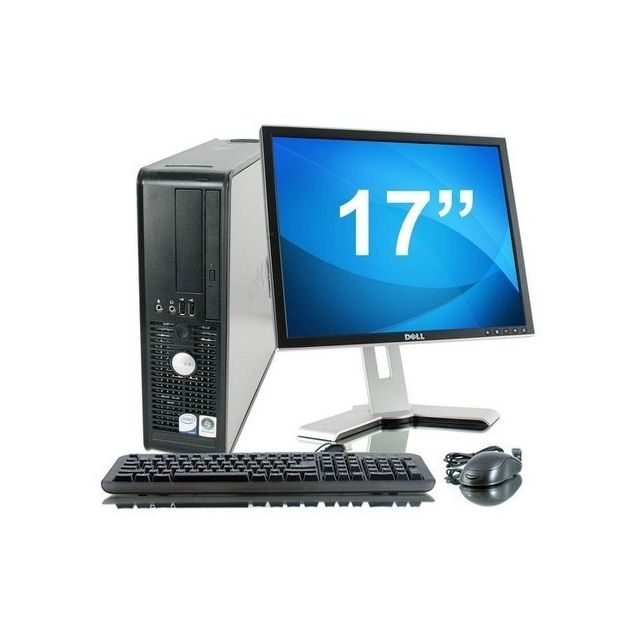"Dell - Lot PC DELL Optiplex 780 SFF Core 2 Duo E7500 2.9Ghz 16Go 1To W7 pro + Ecran 17"""""""" - Occasions Unité centrale"