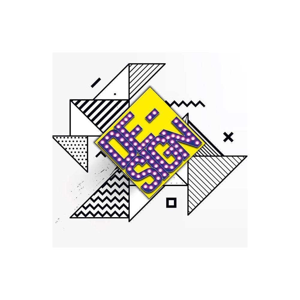 Homemania HOMEMANIA Tableau Effet Led - Design - pour Séjour, Chambre - Multicolore en Coton, Bois, 50 x 2 x 50 cm