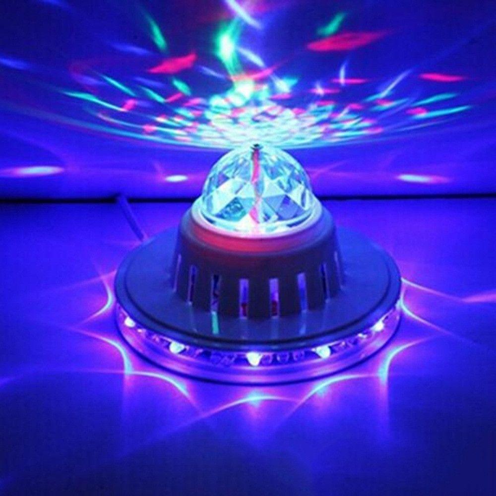 Wewoo Boule à facette 2 en 1 LED Tournesol Sound Active RGB Stage Light
