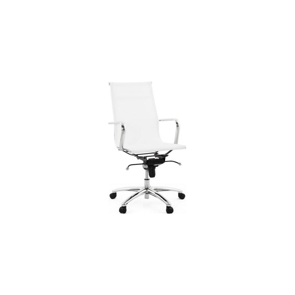 Kokoon Design Chaise de bureau blanc mobile
