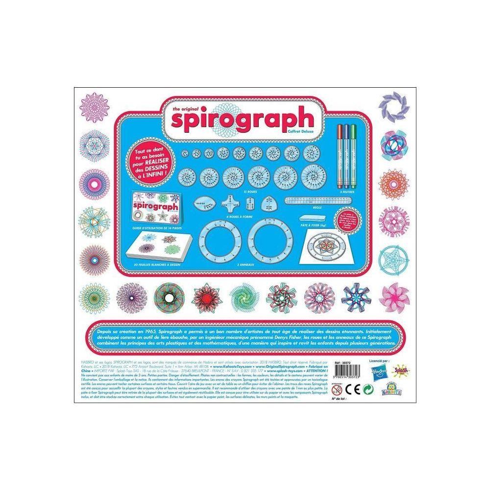 marque generique   JEU DE COLORIAGE   DESSIN   POCHOIR   Spirograph Deluxe  Kit + palette stylo néon et glitter