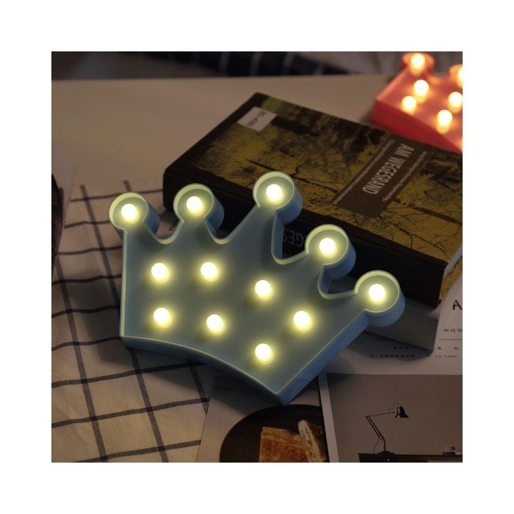 Wewoo Forme de couronne créative Lampe de décoration à DEL blanche chaude, 2 piles AA
