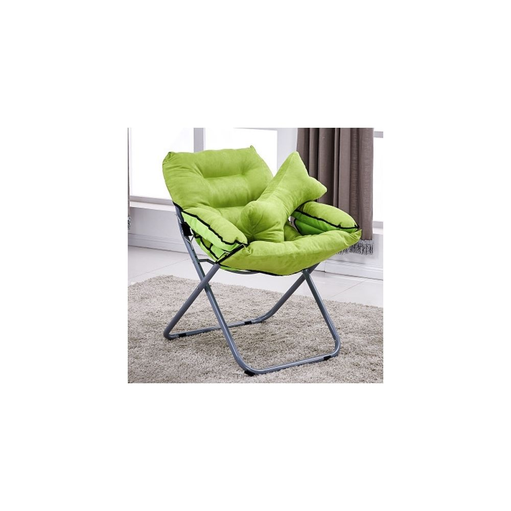 Wewoo Salon créatif pliant paresseux canapé chaise simple longue tatami avec oreiller vert