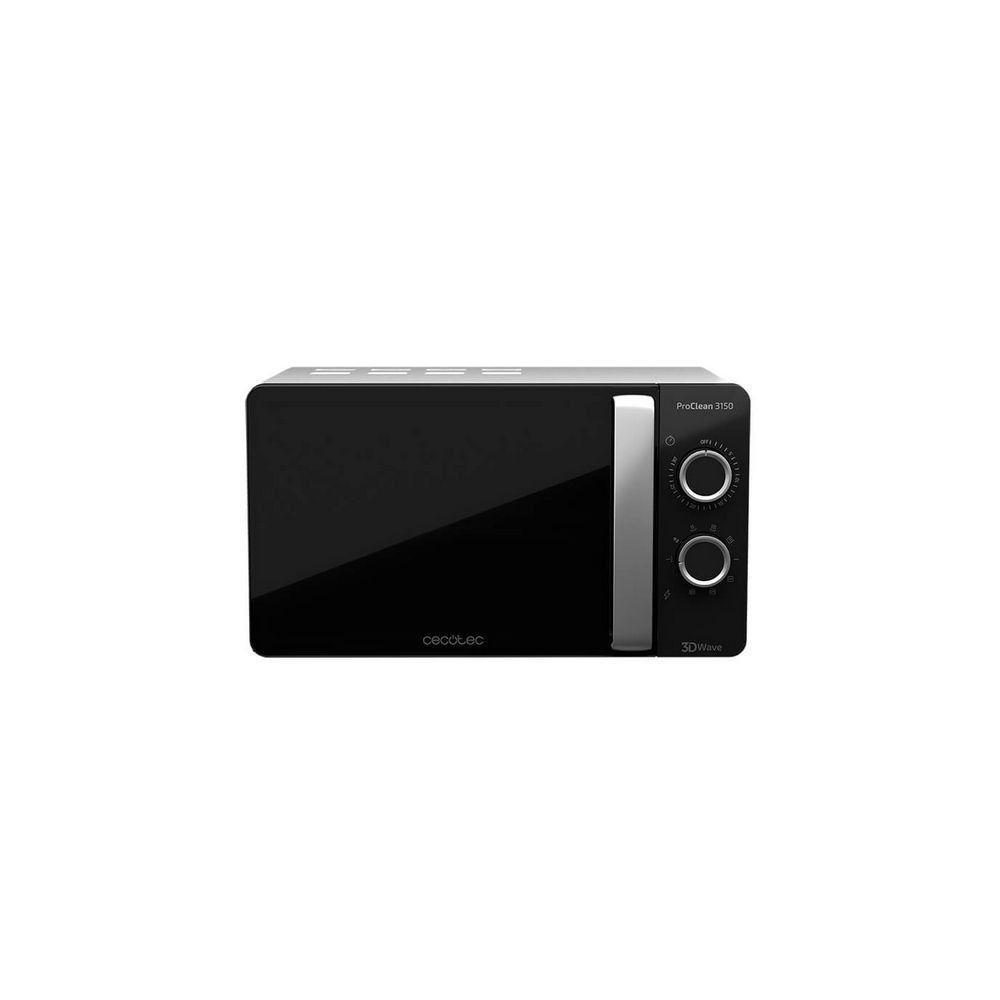 Totalcadeau Micro-ondes avec Grill à plateau tournant 20 L 700W Noir Argenté - Dimensions 44,5 x 35,5 x 25,5 cm