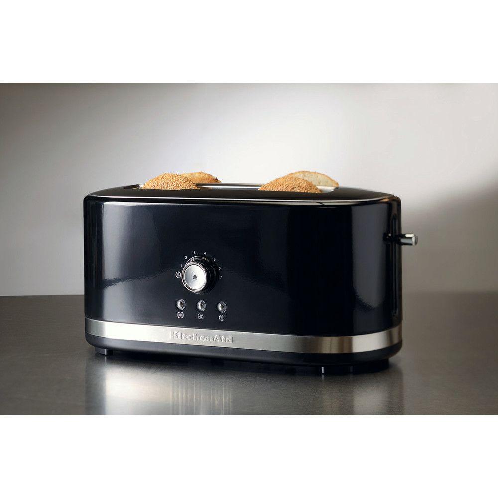 Kitchenaid grille pain avec 2 fentes longues 1800W noir onyx argent