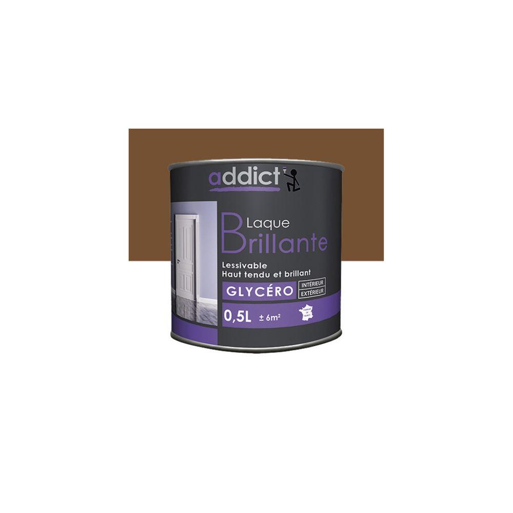 Addict Peinture laque multicouche Brillante 0,5 L - Ton bois - ADD111353 - Addict