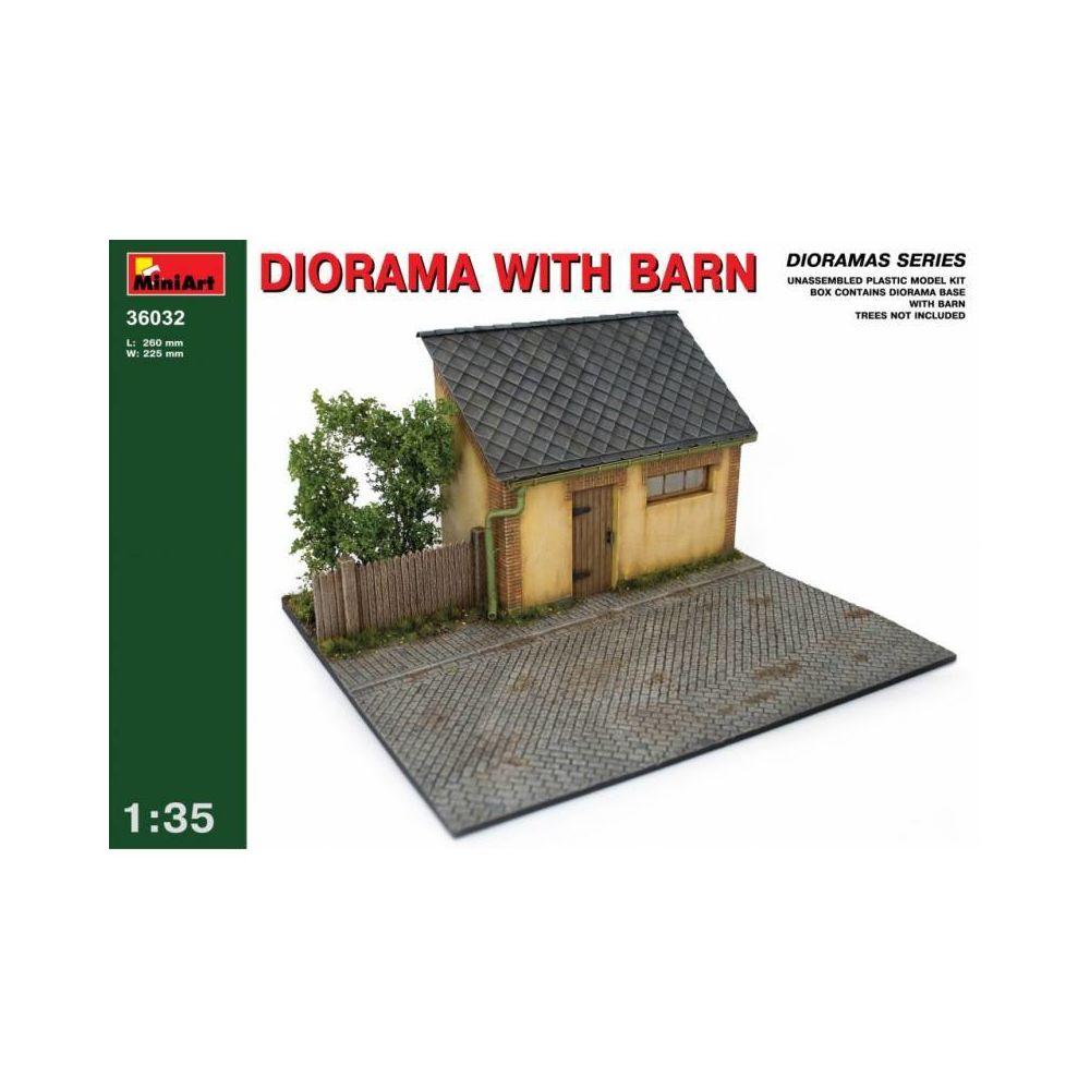 Mini Art Diorama With Barn - Décor Modélisme