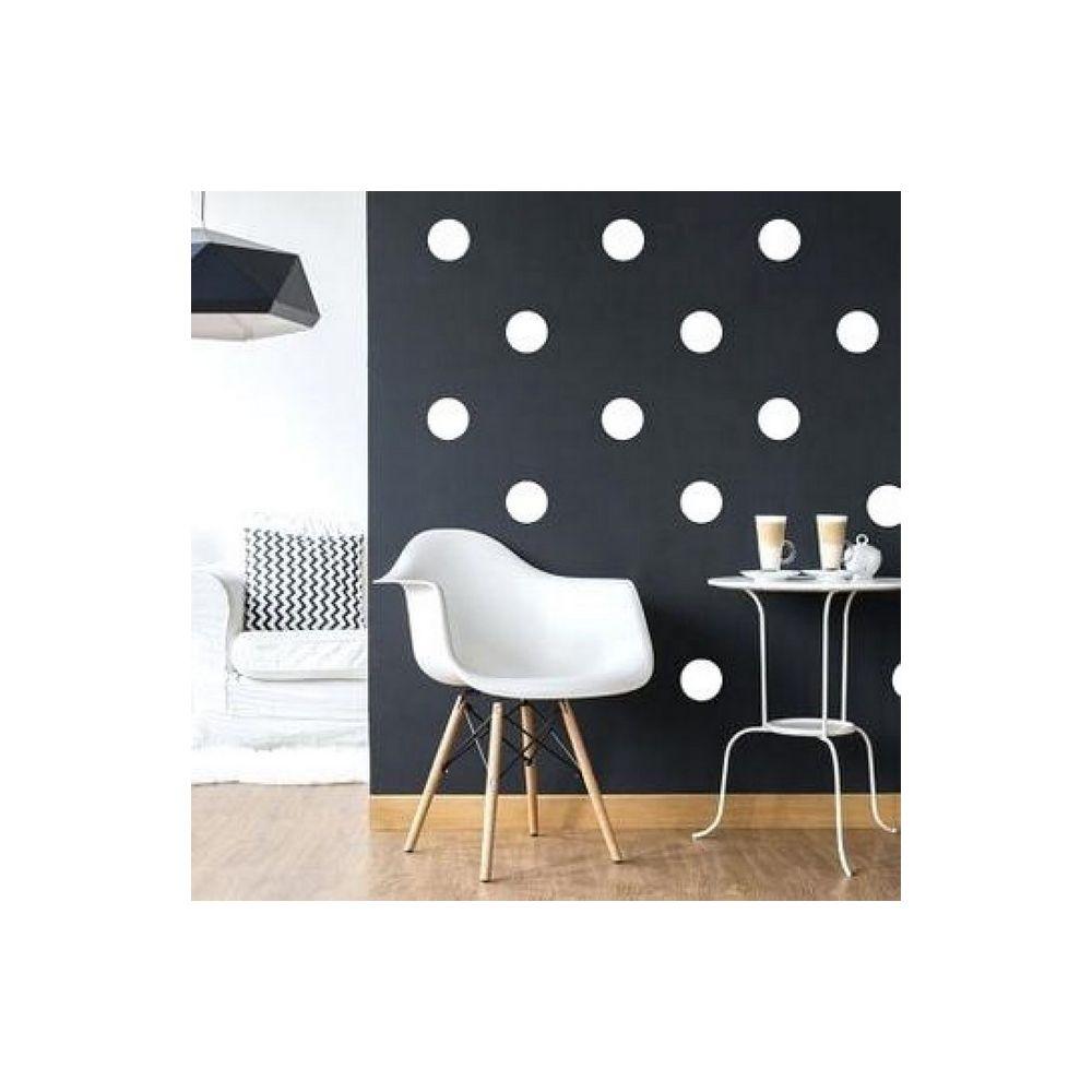 Homemania HOMEMANIA Sticker Polka Dots - Cercle - pour les enfants - au mur - Blanc en Vinyle, 20 x 0,2 x 27 cm