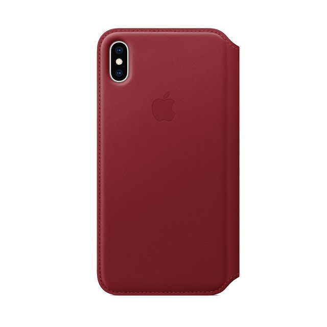 Apple - iPhone XS Max Leather Folio - (PRODUCT)RED - Accessoire Smartphone Iphone xs max
