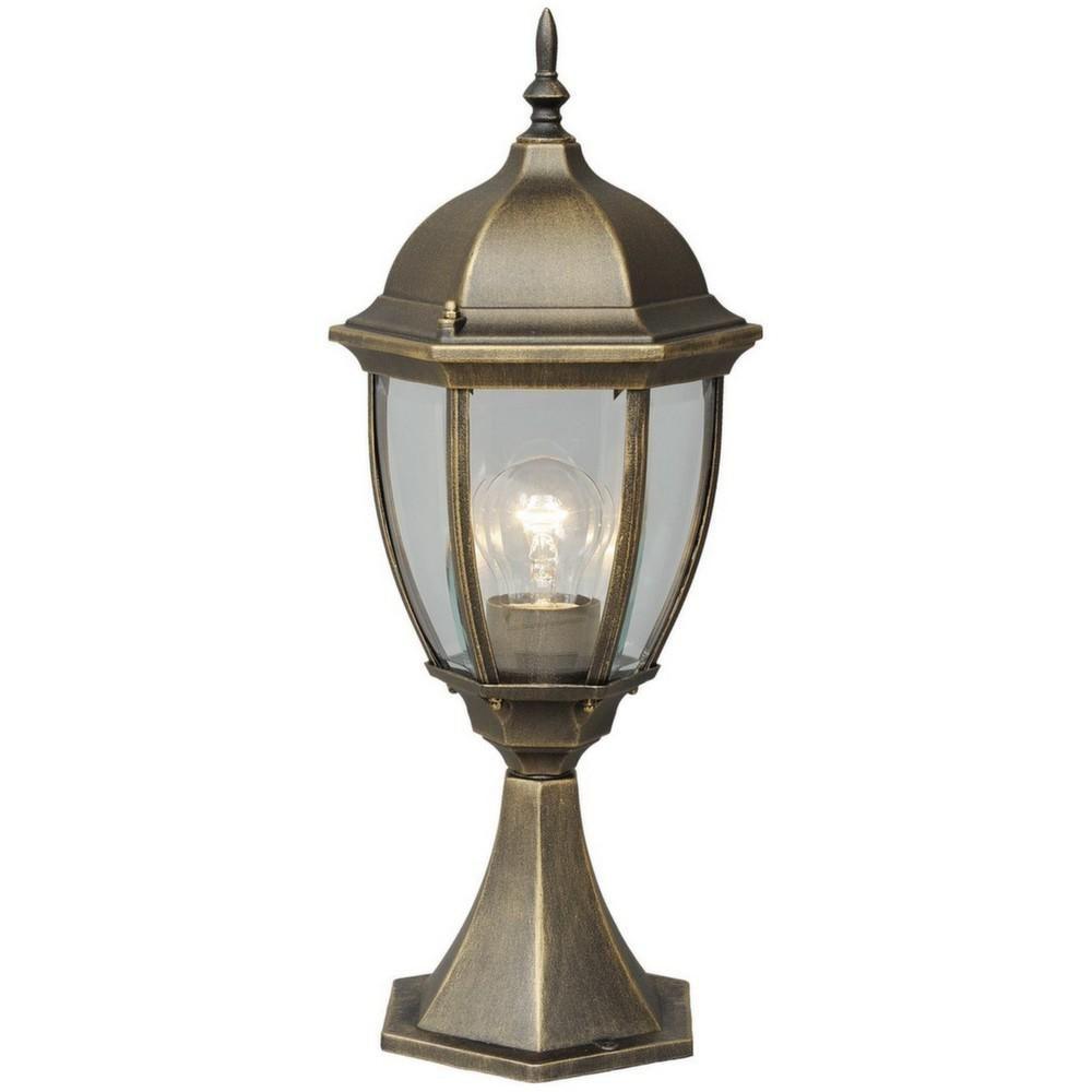 Mw Light Lampe de jardin lanterne pointue noire dorée