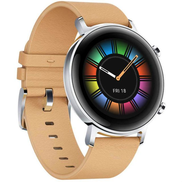 Huawei - Watch GT 2 - 42 mm - Beige - Objets connectés reconditionnés