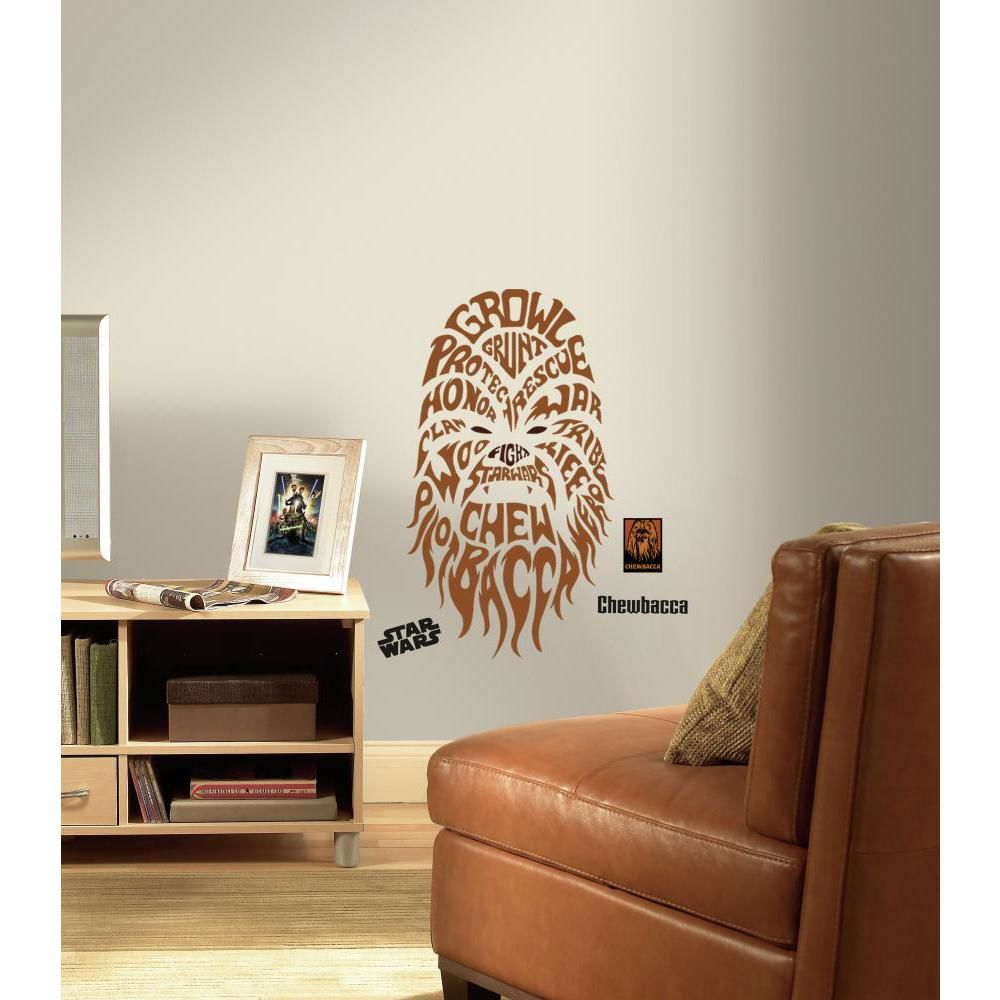 Mon Beau Tapis STAR WARS CHEWBACCA - Sticker repositionnable géant Chewbacca graphique-textes, Star Wars 74x41