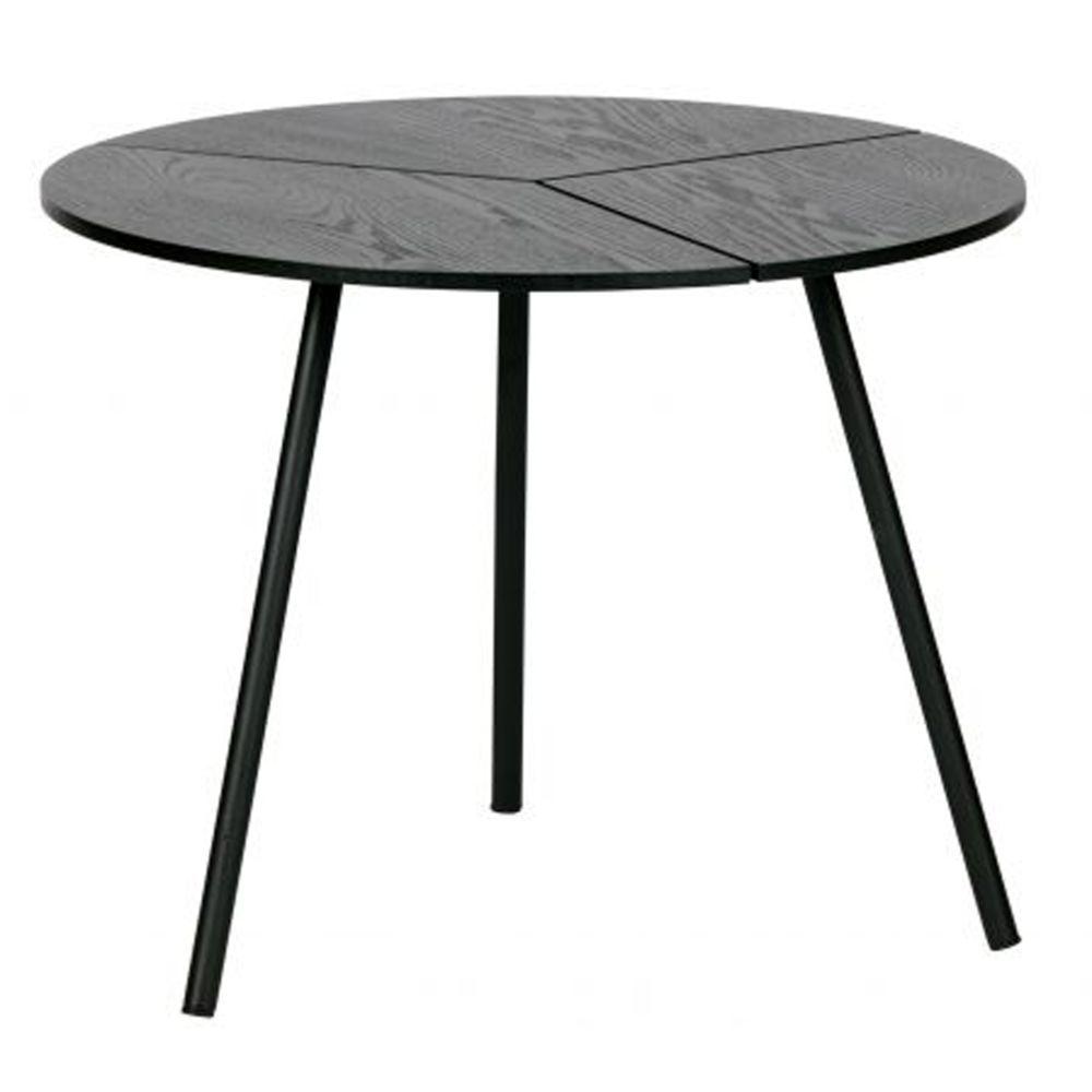 Pegane Table d'appoint en bois et métal coloris noir - H.38 x L.48 x P.48 cm -PEGANE-