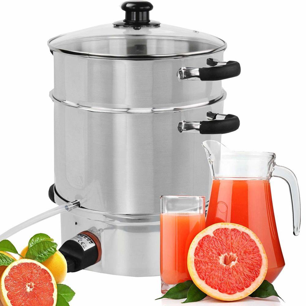 Syntrox Germany Extracteur de vapeur Juicer Presse à fruits Acier inoxydable avec élément chauffant