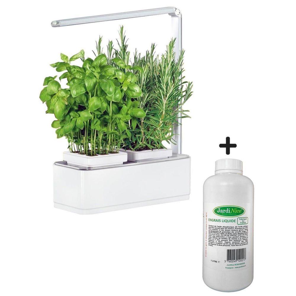 Jardinice Jardinière avec lampe led intégrée Mini potager + engrais 1000 ml