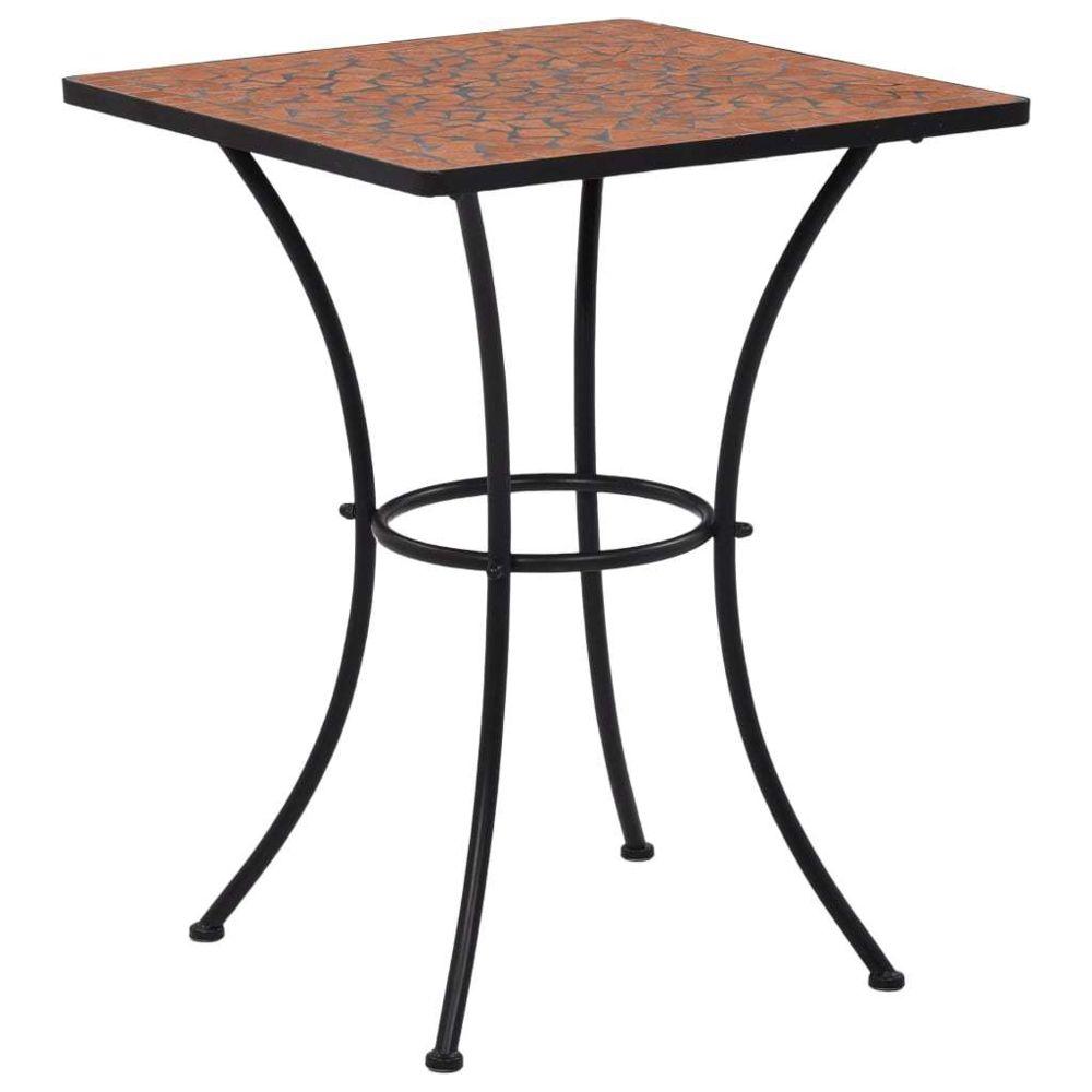 Uco UCO Table de bistro mosaïque Terre cuite 60 cm Céramique