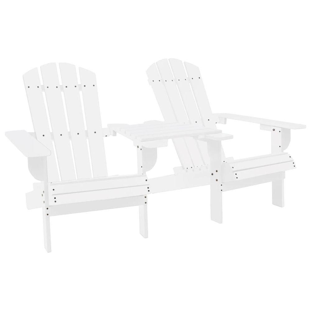 Vidaxl vidaXL Chaise de jardin Adirondack Bois de sapin massif Blanc