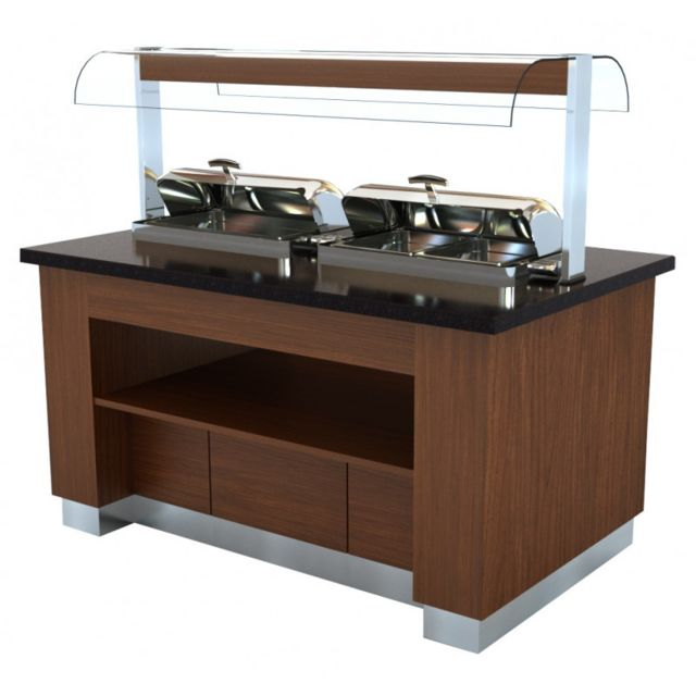 Combisteel - Buffet Chaud Avec 2 Chafing Dish GN 1/1 - Combisteel - - Préparation culinaire