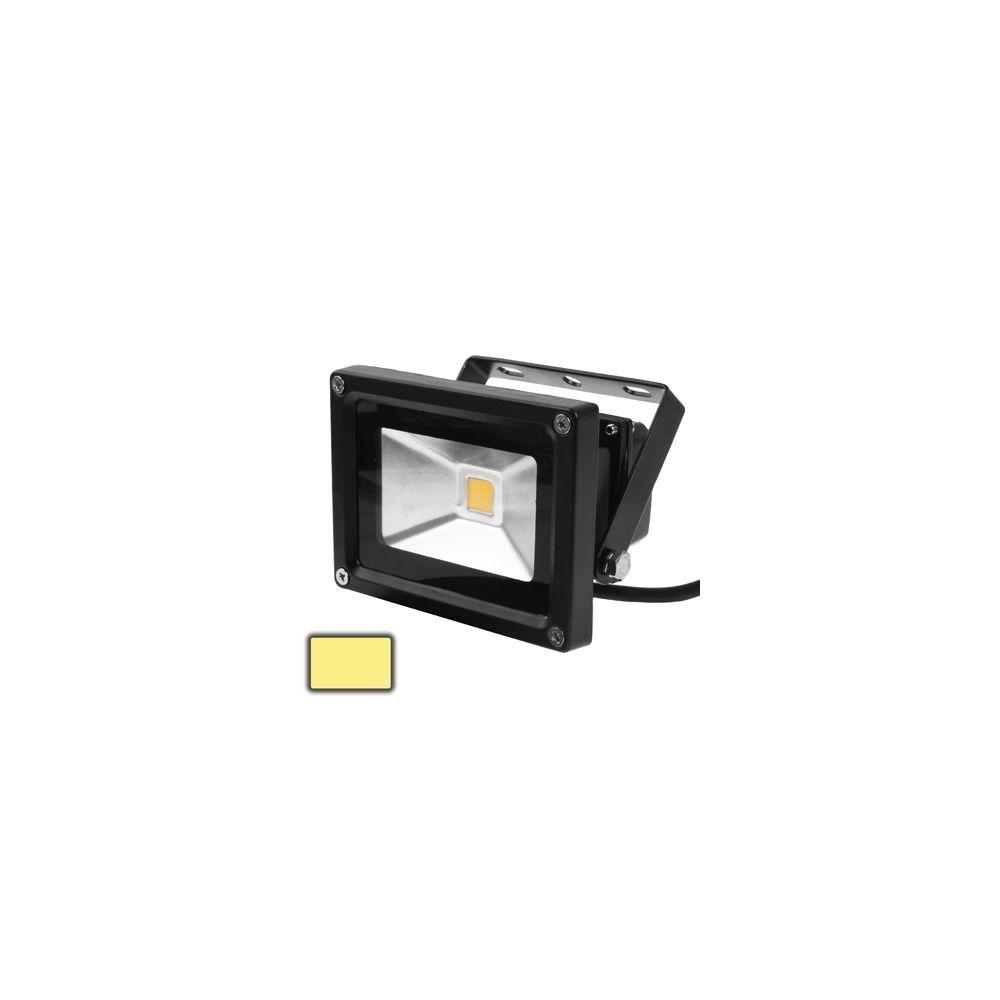 Wewoo Projecteur LED noir Lampe de de blanche chaude imperméable de 10W, AC 85-265V, flux lumineux: 800-900lm