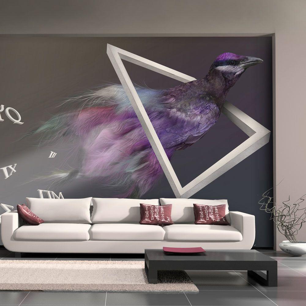Rose Blanc Cage à Oiseaux Papier Peint Noir Luxe Moderne Feature Collez Le Mur X 3