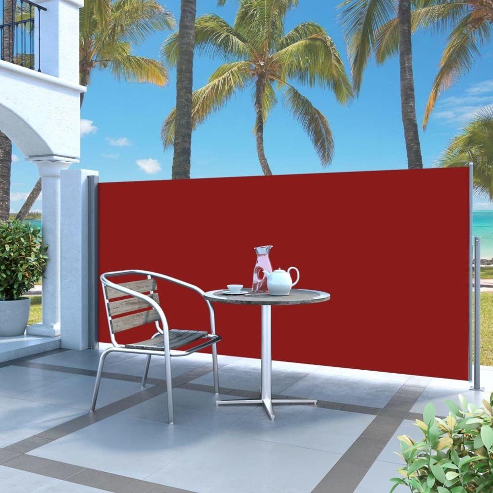 Vidaxl Auvent latéral rétractable 120 x 300 cm Rouge - Pelouses et jardins - Vie en extérieur - Parasols et voiles d'ombrage |