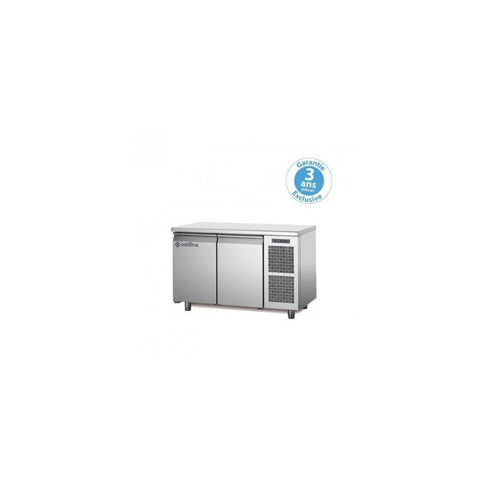 Materiel Chr Pro Table réfrigérée négative - groupe logé - 2 portes - 260 litres - profondeur 800 - 600 x 400 - avec dessus -