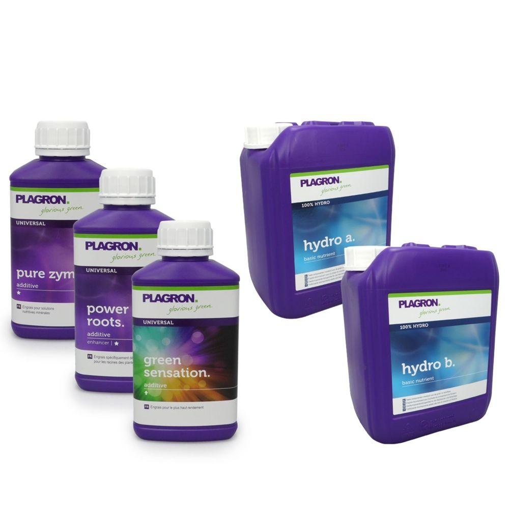 Plagron Pack Hydro PLAGRON 5 litres + stimulants