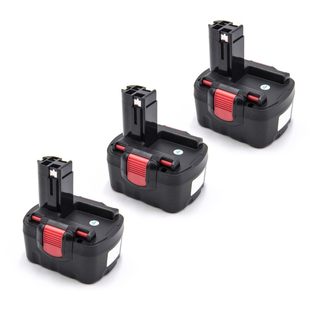 Vhbw vhbw 3x Ni-MH Batterie 1500mAh (14.4V) pour outils PSR 14.4, PSR 14.4-2, PSR 14.4, N comme Bosch 2 607 335 264, 2 607 33