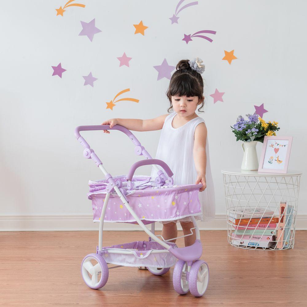Olivia'S Little World Poussette landau nacelle 2 en 1 pour poupée poupon baigneur de 40-45 cm Olivia?s Little World OL-00010