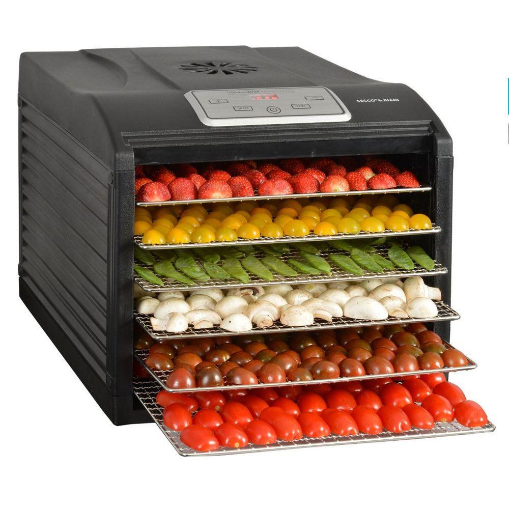 Kitchen Chef kitchen chef - déshydrateur fruits et légumes 6 plateaux 500w - secco 6 black