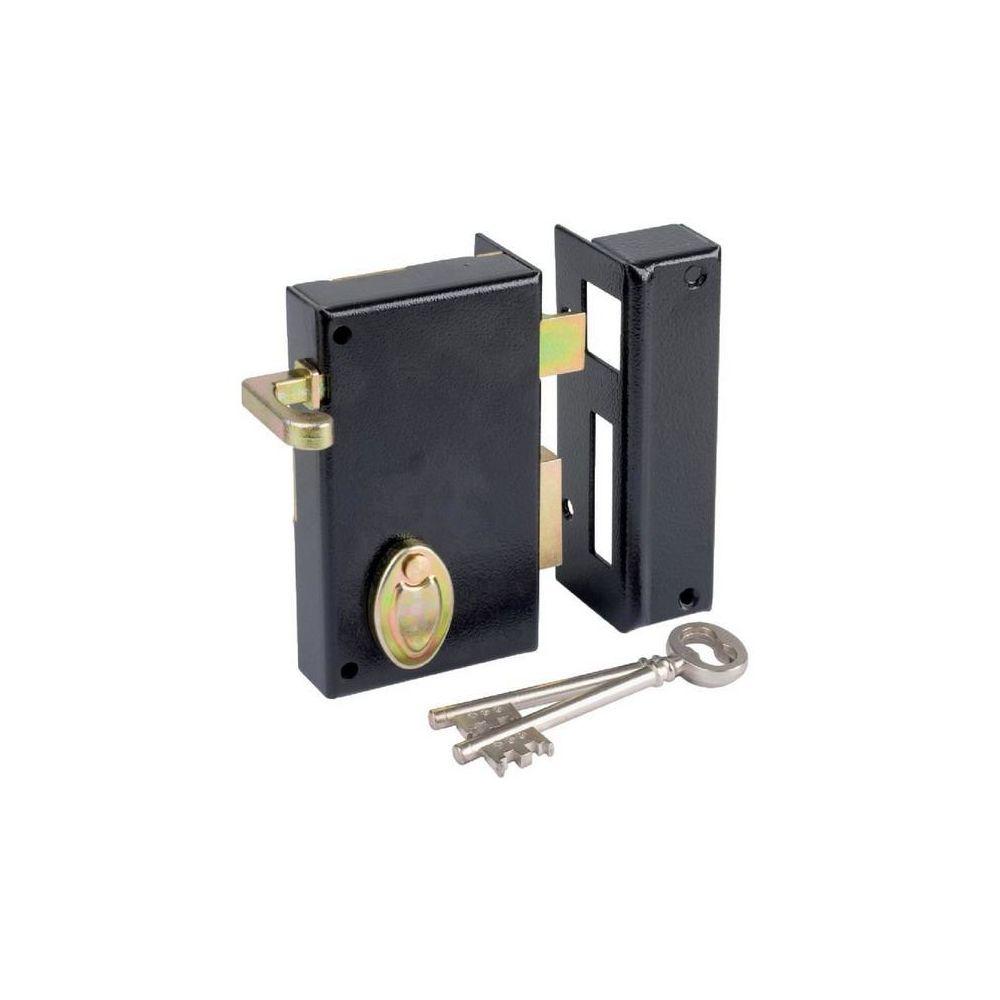Metalux Dom Metalux - Serrure en applique à gorge à tirage 802 Axe 45 mm gauche