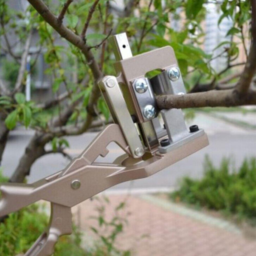 Generic Ciseaux de greffage de poignée en alliage d'aluminium outils d'élagage de jardinage sécateurs - marron