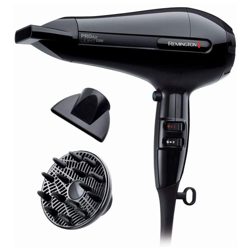 Remington Sèche Cheveux Céramique Ionique 2200W noir