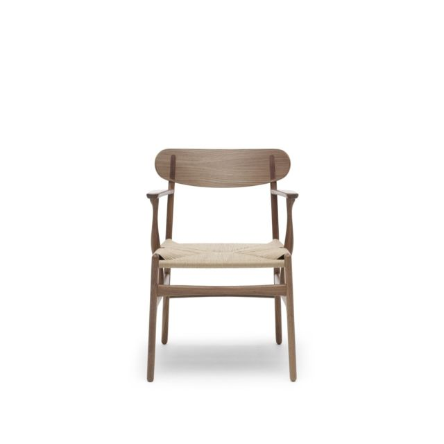Carl Hansen - Chaise CH26  - noyer huilé - maille nature Carl Hansen   - Chaises