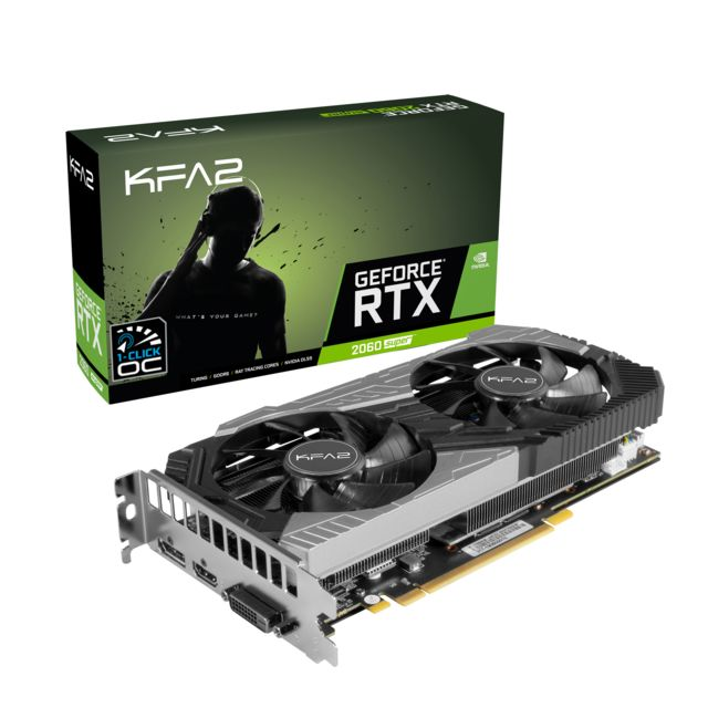 Kfa2 -Geforce RTX 2060 Super - 1-CLICK OC - 8 Go Kfa2  - Carte Graphique NVIDIA