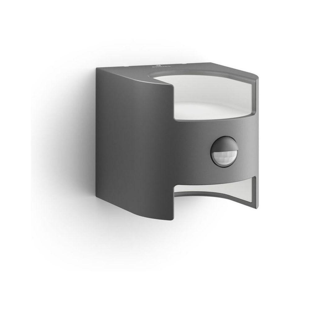 Philips Applique détecteur mouvement Grass IR LED IP44 H13 cm - Anthracite