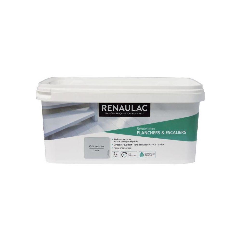 Renaulac RENAULAC Peinture Rénovation Plancher & Escalier Gris Cendre - Satin - 2L - 24m²/ pôt