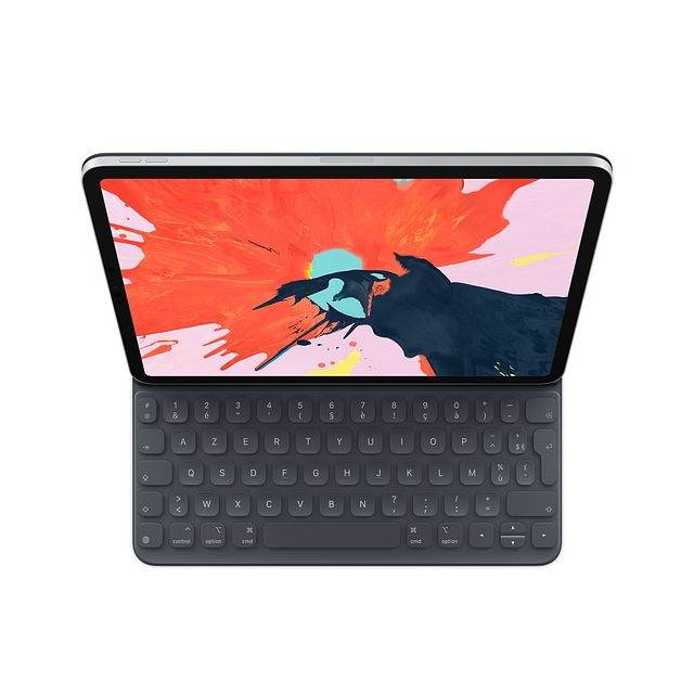 Apple - Smart Keyboard Folio pour iPad Pro 11 - AZERTY - MU8G2F/A - Noir - Housse, étui tablette