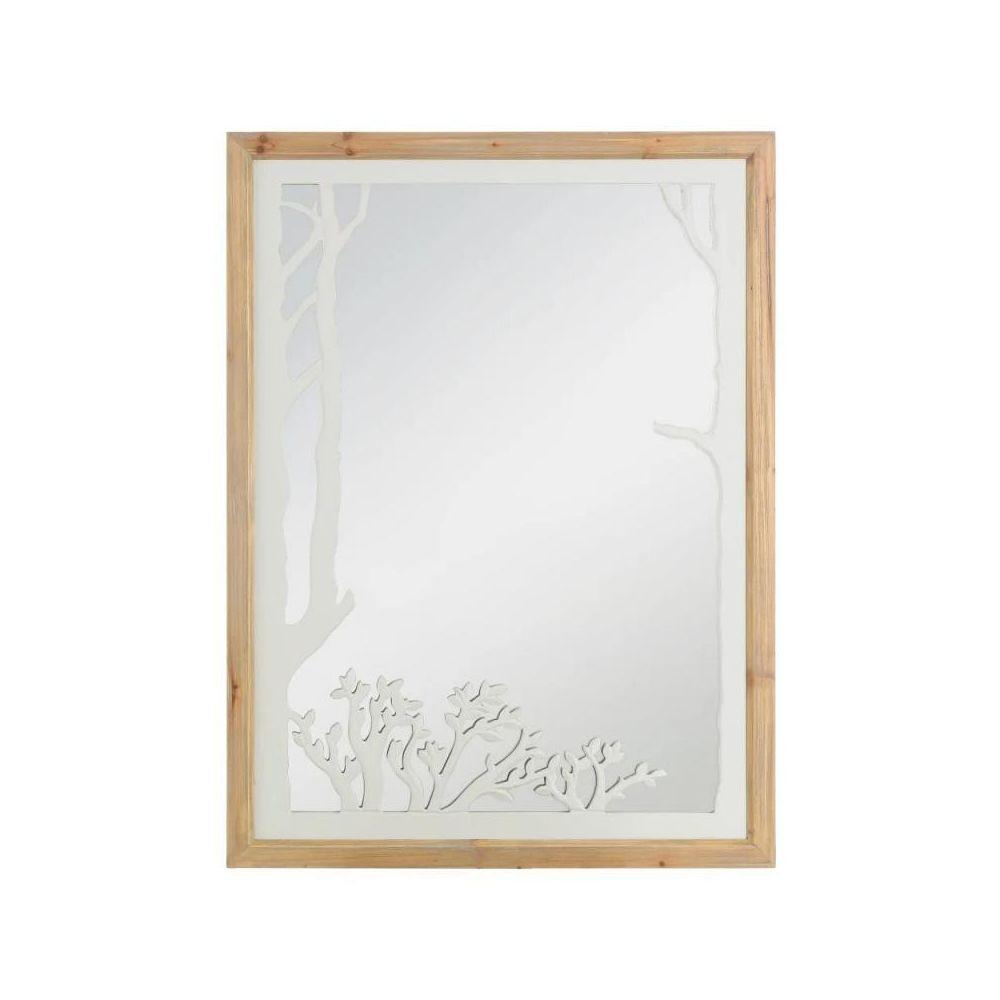 Tousmesmeubles Miroir rectangulaire Bois/Gris - SOKOKE