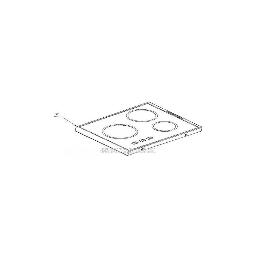 Electrolux Plaque dessus verre vitro-ceram pour cuisinière electrolux